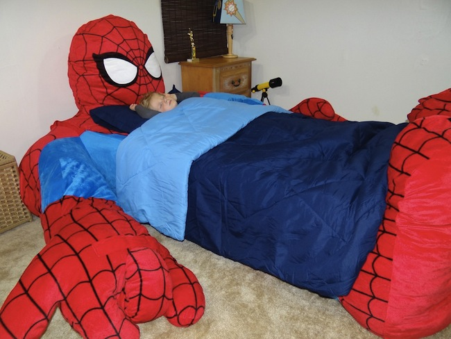 spiderman boy bed Coolest Bed Ever: Spider Man Bed