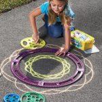 Magic Art Spiral Sidewalk Chalk Design Kit