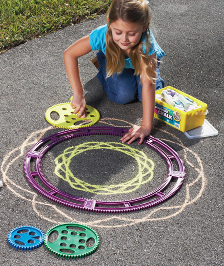 Magic Art Spiral Sidewalk Chalk Design Kit