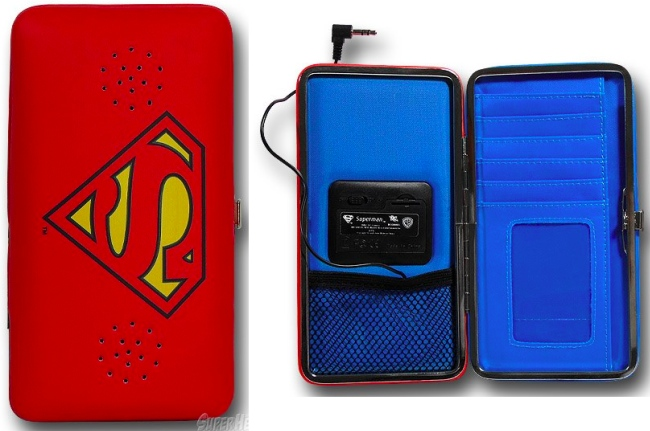 Superman Ladies Wallet with Speakers