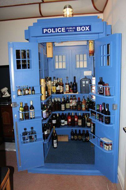 Doctor Who TARDIS Liquor Cabinet