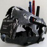 Plasma Cut Steel Dinosaur Skull Business Card Holder
