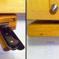 undercabinet knife block