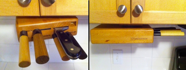 Under the Cabinet Swiveling Knife Block