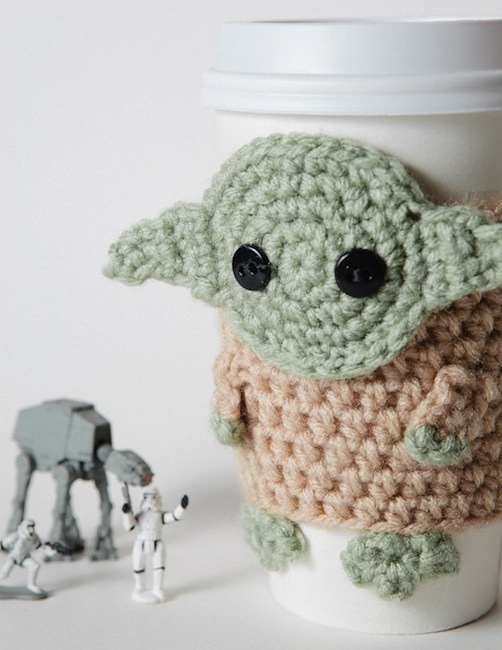 yoda coffee cup cozy Yoda Coffee Cup Cozy