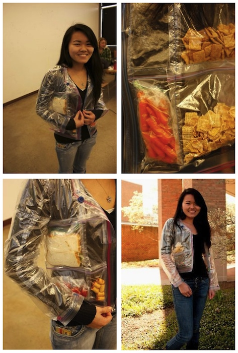 ziploc bag jacket Pinboard