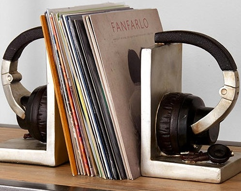 Airplane Bookends  Headphone Bookends