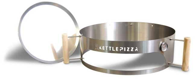 kettle pizza closeup KettlePizza Turns Your Weber Charcoal Grill into a Pizza Oven