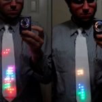 Light Up LED Tetris Tie