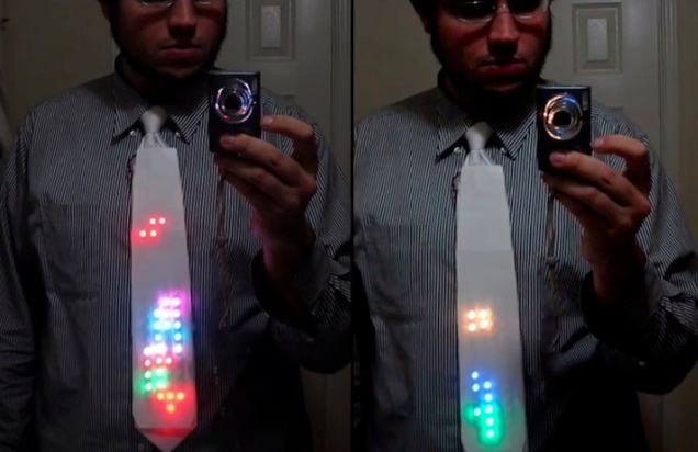 led tetris tie Light Up LED Tetris Tie