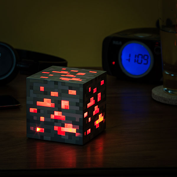 minecraft night light Minecraft Light Up Redstone Ore