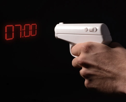 Secret Agent Alarm Clock, Shoot to See the Time
