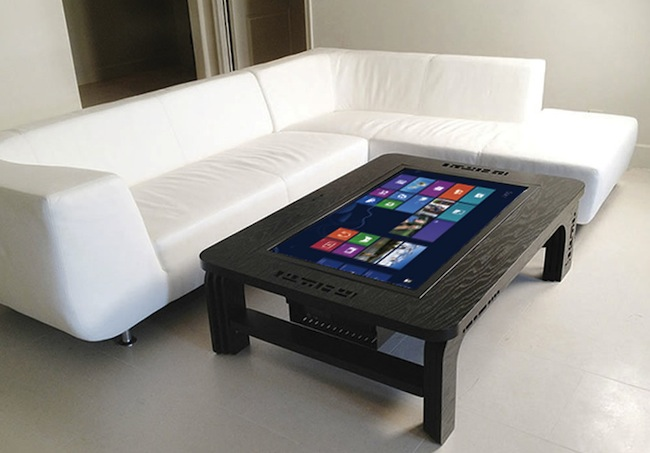 Giant coffee table touchscreen computer craziest gadgets - Table basse high tech ...