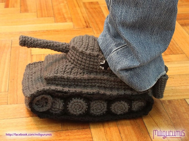 tank slippers2 Tank Slippers