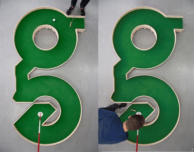 typographic mini golf