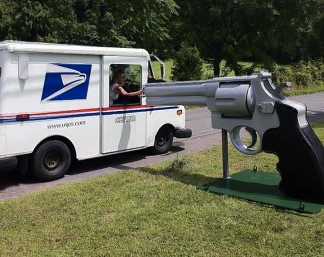 Man Builds Giant .44 Magnum Mailbox