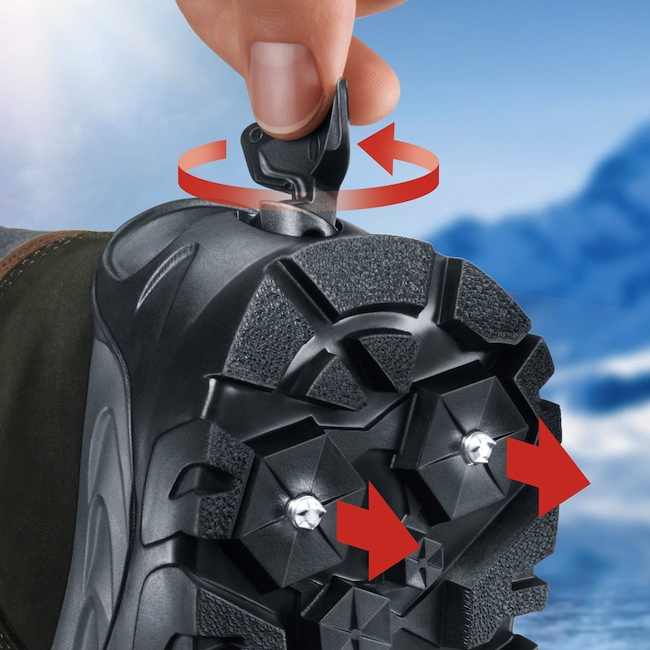 Snow and Ice Boots with Retractable Spikes