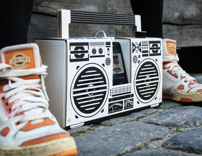 cardboard boombox Berlin Boombox is Made of Cardboard