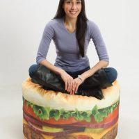 hamburger bean bag chair