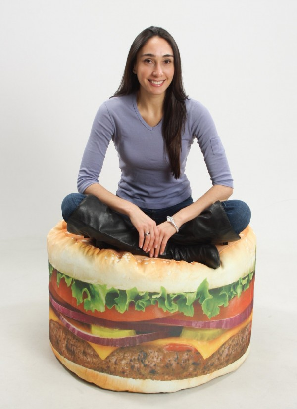 Hamburger Beanbag Chair: You're the Topping