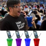 Straw Cup Phone Holder