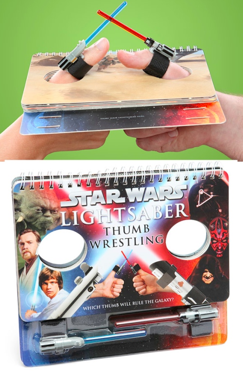star wars thumb wrestling Star Wars Lightsaber Thumb Wrestling