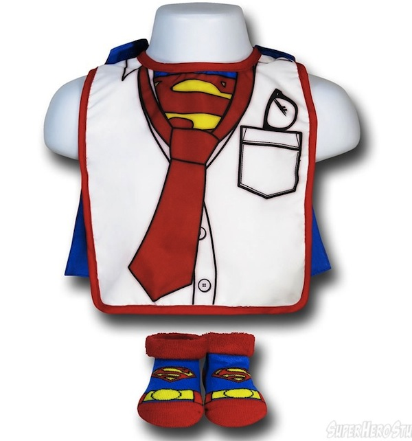 Superman Clark Kent Bib and Booties