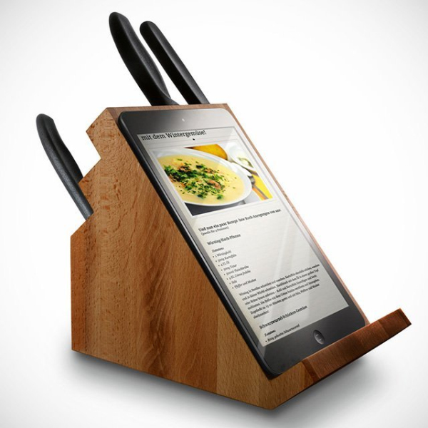tablet knife block iPad Holding Knife Block