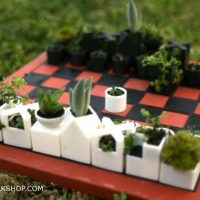 3d printed planter chess set