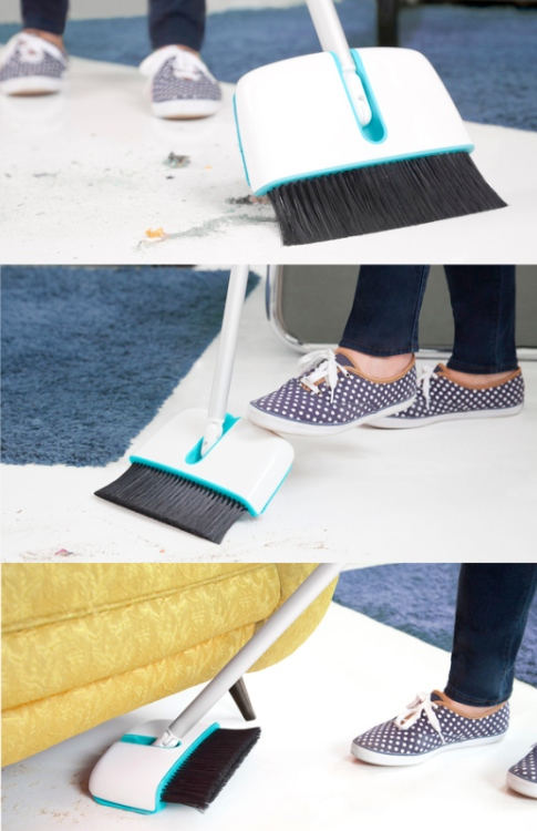 Flipside is a Broom and Floor Duster in One
