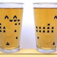 galaga pint glasses
