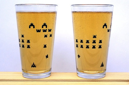 galaga pint glasses Pinboard