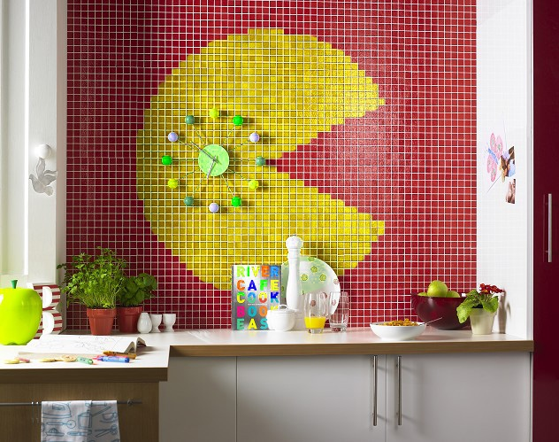 pacman tile 4 Classic Video Game Inspired Tile Designs