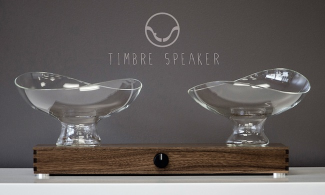 Timbre Speaker Uses Glass Bowls to Adjust the Sound