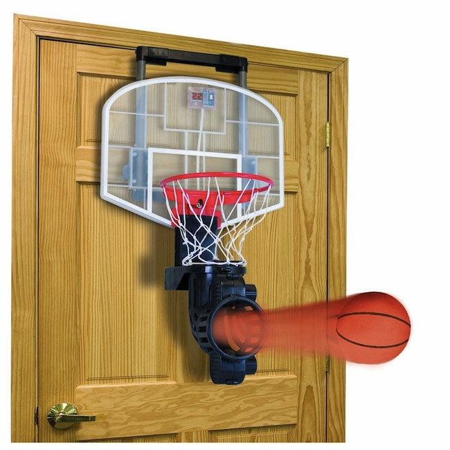 Auto Ball Return Over the Door Basketball Hoop