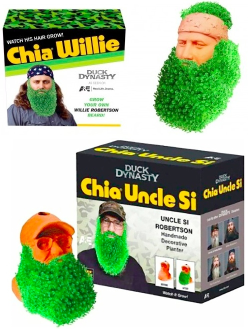 Grow a Beard: Duck Dynasty Chia Pet Planters
