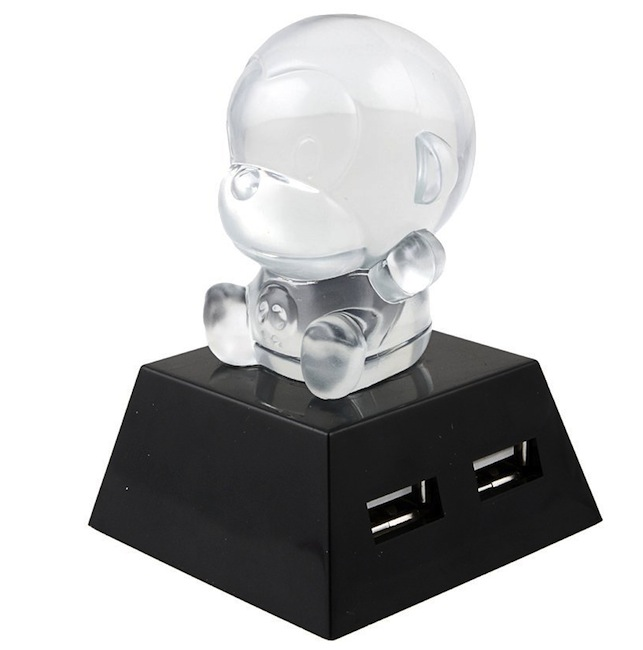 Color Changing Crystal Monkey USB Hub