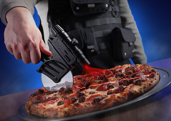 Laser Guided Pizza Cutter: Pew Pew Pizza