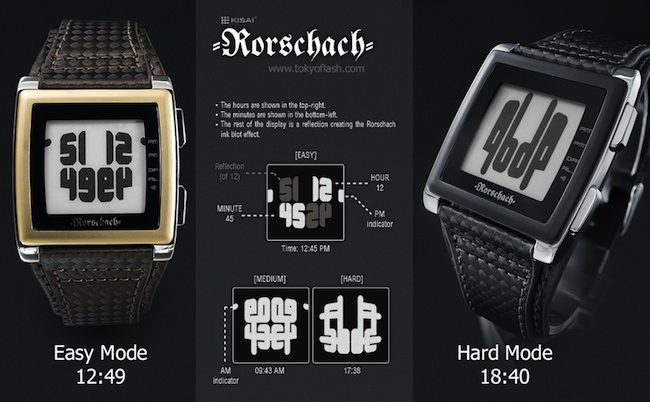 tokyoflash rorschach watch how to read