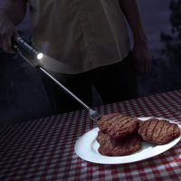 flashlight bbq fork