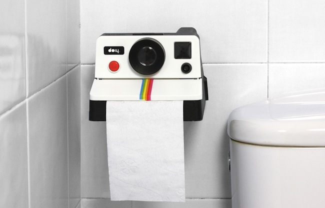 pola roll in use Polaroid Camera Toilet Paper Dispenser