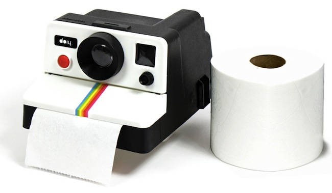 polaroid toilet paper Polaroid Camera Toilet Paper Dispenser