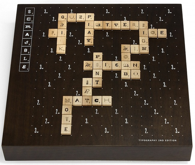scrabble typography edition Pinboard