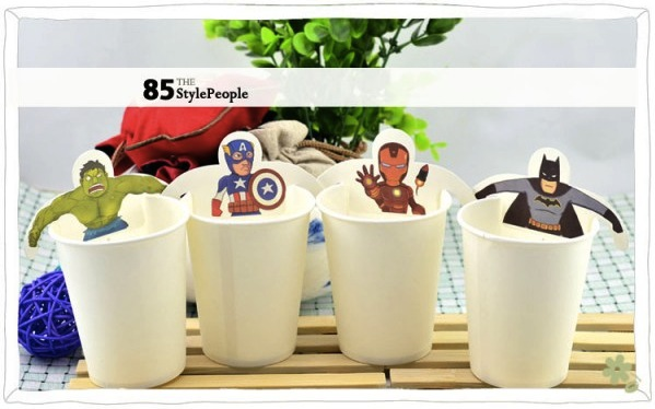 superhero tea bags Pinboard