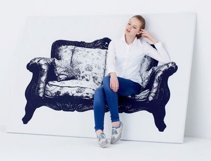 canvas couch