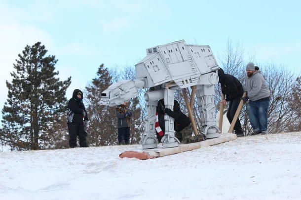8 Foot Tall Cardboard AT-AT Sled