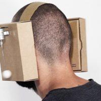 cardboard headphones