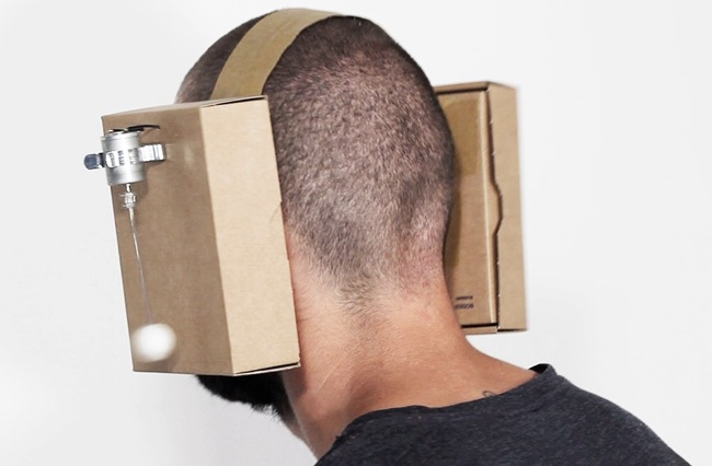 cardboard headphones