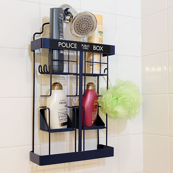 doctor who shower rack in use