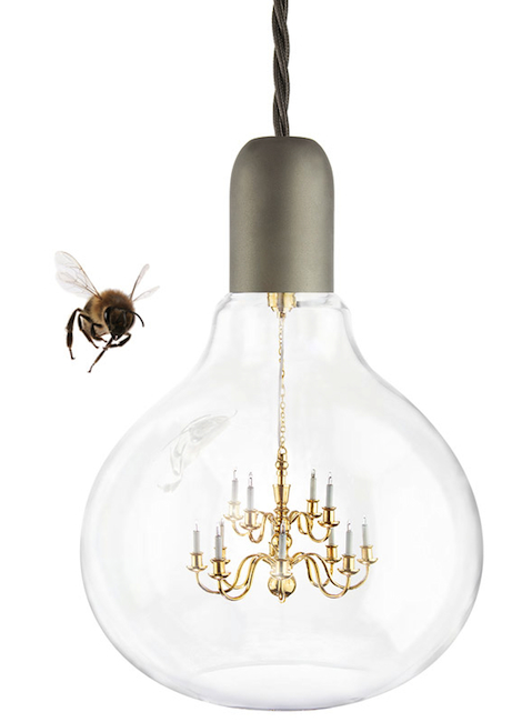 king edison lamp Chandelier Inside a Lightbulb is the Turducken of Lighting